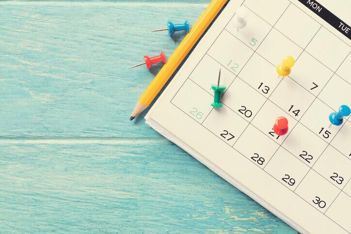 占いの頻度 カレンダー