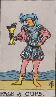 タロットの意味 カップのペイジ