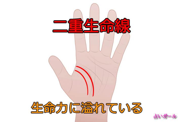 手相 生命線 二重生命線の意味