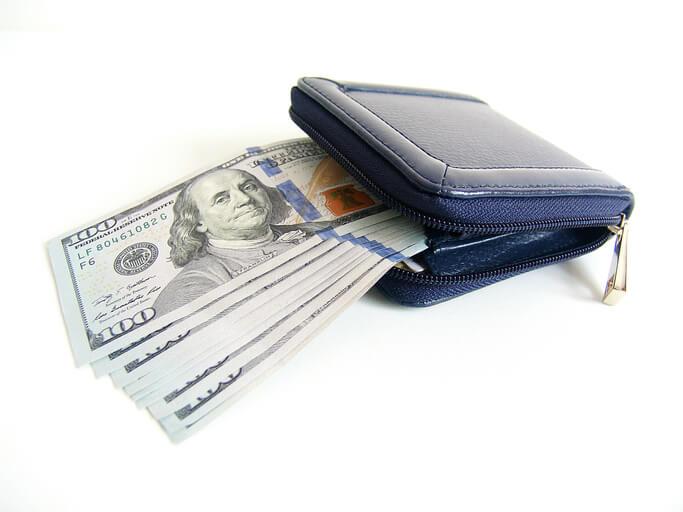 金運 財布 藍色