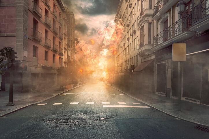 夢占い 火事 街
