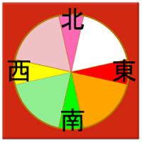 風水カラーコンパス 占いアプリ