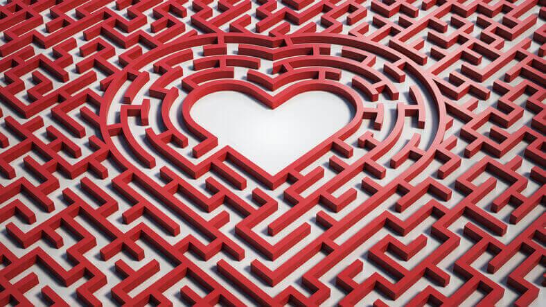 複雑愛 ハート 迷路 恋愛 占い
